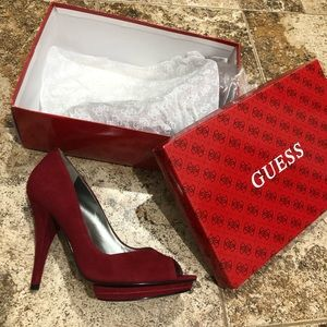 Brand new Guess suede heels